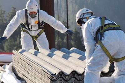 asbestos roofing removal and pickup